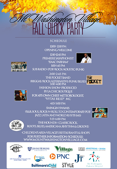 Fall Block Party Schedule